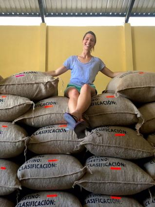 The final step - dried cacao beans are bagged and ready for shipment! #GFCSourcing